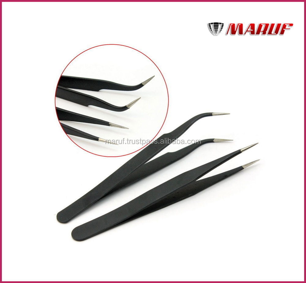 Best Quality Curved Tip Eyelash Extension Tweezers,Tweezer Eyelash Extensions