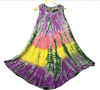 Sleeveless beach top, tye dye dress, umbrella cover up made in India-100% Rayon Dress
