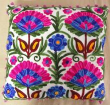 RTHCC- 135C Suzani Handmade Square Shape Cushion Pillow Covers Manufacturs