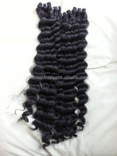 100% human hair virgin hair extension wavy hair weaving