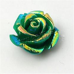 Flower Resin Beads AB color plated mixed colors 14x14x9mm Hole:Approx 1mm 100PCs/Bag Sold By Bag