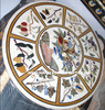 Round Marble Inlay Dining Table Top, Inlay Marble Table Top