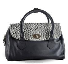 Women Leather Bag Stone Pattern Zipper Bag Cowhide Messenger Handbag SALE