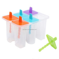 Brand New DIY Ice Lolly Mold Maker Ice Pole Freezer Tray 6 Cell Ice Cream Pop Mold Popsicle Maker