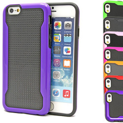 10 Colors - Hybrid Dual Layer Dotted Hard Case Cover for iPhone 6 USA, Los Angeles Wholesale