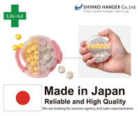 Portable Pill Case japan pink pills Made In JAPAN Pink High Quality SHINKO