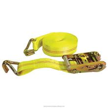 lashing equipment, safety belt 2 inch 25mm truck ratchet straps, cargo lashing of ship for sale