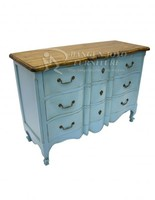 Blue french chest of drawers