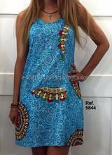 women clothes fashionable dress blue mini dress