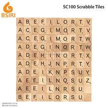 scrabble board game wooden