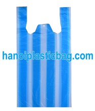 Striped HDPE shopping bag