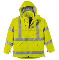 Hi-Vis Reversible Safety Bomber Jacket With Reflective Tape