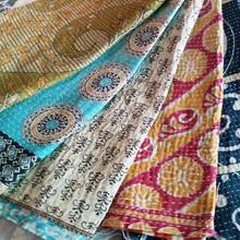 Vintage Cotton Kantha Scarf Stole Saree Neck Wrap