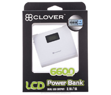 Power Bank 6600mAh USB External Mobile Backup Power bank Battery for iPhone iPod iPad mobile Phone Universal Charger
