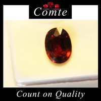 Natural African Ruby Purplish Red Oval Cut