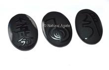 Embossed Stone Black Onyx Arch Angel Set : Wholesale Of Embossed Stone Set