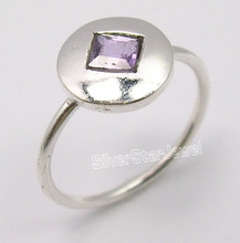 .925 Silver Fabulous PURPLE AMETHYST LIGHTWEIGHT Ring Any Size FACTORY DIRECT