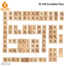 Black Font Wooden Scrabble 100 tiles complete set for scrapbooking
