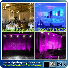 pipe and drape stage backdrop wedding decoration event crystal hanging items