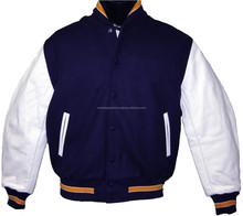 white trims plain varsity jacket wholesale / custom varsity jackets