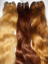 NEW !!! two tone hair ombre hair weaves#10 /613 blonde weave virgin brazilian body wave hair weft