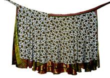 Reversible abrigo de seda de dos capas alrededor de abrigo de seda de la falda al por mayor de alrededor de la falda