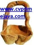 Rustic teak bowl