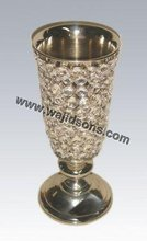 Tall crystal votive centerpiece, New design crystal centerpiece vase for decoration