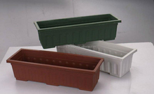 Cheap plastic flower pot trays, large size plastic flower pot, plastic pot hanger
