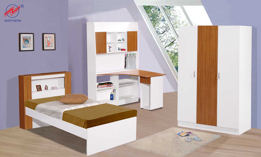 Latest single bedroom furniture set for Single bed furniture set