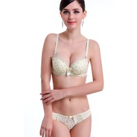 yyw.com 2015 cotton young girl bra and panty