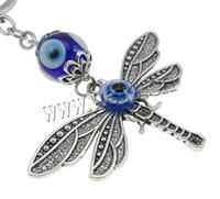 with iron ring & Resin & Zinc Alloy Evil Eye Lampwork Key Chain