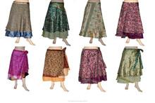 Venta al por mayor mujeres maduras falda abrigo de seda modelos