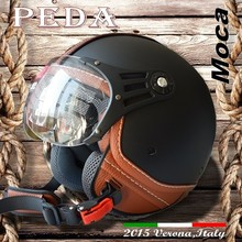 (Moca) 2015 NEW ECE DOT casco Italy design motorcycle helmet Unisex open face vintage leather style (PEDA MOTOR) online shop