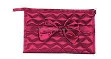 Classic diamond lattice butterfly knot makeup bag
