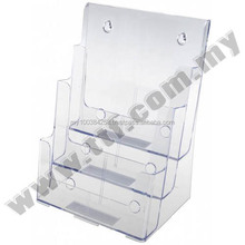 Wall Mount Brochure Holder (1/3 A4 3 Compartment), Brochure Holder, Brochure Stand, Sign Holder, Card Holder, Display Rack, Disp