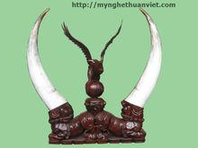 Cuerno decorativos, cuerno de vaca decoración, decorativa zapato cuerno, la decoración de los animales cuernos