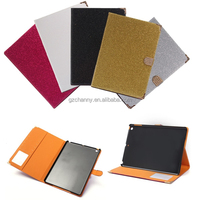 Luxury Fashion Bling Glitter Flip Magnetic Stand Wallet Cards Cover PU Leather Case For iPad 5 Pouch Bag Protector