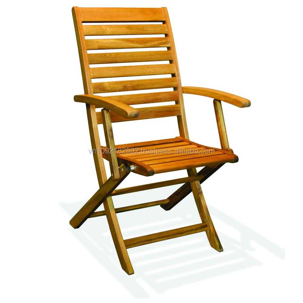 Mojo Folding Armchair/garden Furniture/ Wooden Chair ...