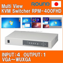 Professional KVM Switch with multiple functions for central monitoring station made in Japan