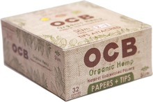 24 Booklets OCB Natural Organic Hemp Cigarette Rolling Papers King's & Tips