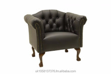 Leather Tub Chair - 100% Genuine Leather - Hand-made in Great Britain