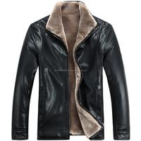 New men's leather jacket, fur one piece leather jacket men sheepskin coat thickening Fax far Leather jacket, M-XXXL!