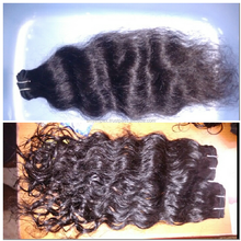Unprocessed Remy hair 5A soft&full natural black can be dyed one donor har weaving from india