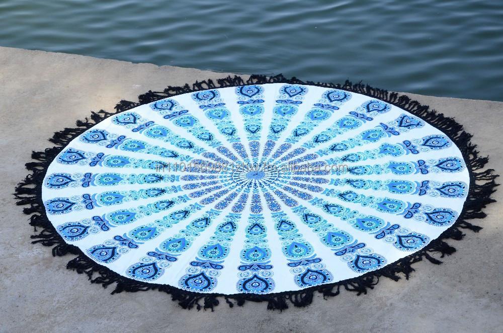Mandala Round Roundie Beach Throw Indian Tapestry Beach