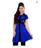 Daily Wear Stitched Blue Solid Georgette Kurti