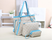 High quality OL shoulder bag women bag brand letter Style Europe bag simple large + small +Wallet