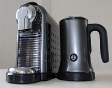 Automatic Nespresso combi capsules machine with milk frother