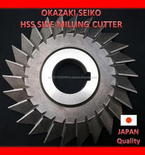 Long lasting OKAZAKI SEIKO sidemilling cutter, other different kinds of cutting tools available
