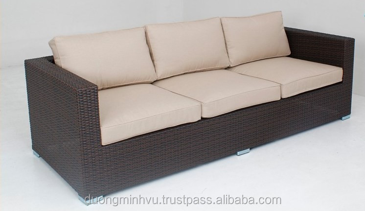 Wholesale use high quality outdoor plastic rattan garden for Sofa exterior pvc